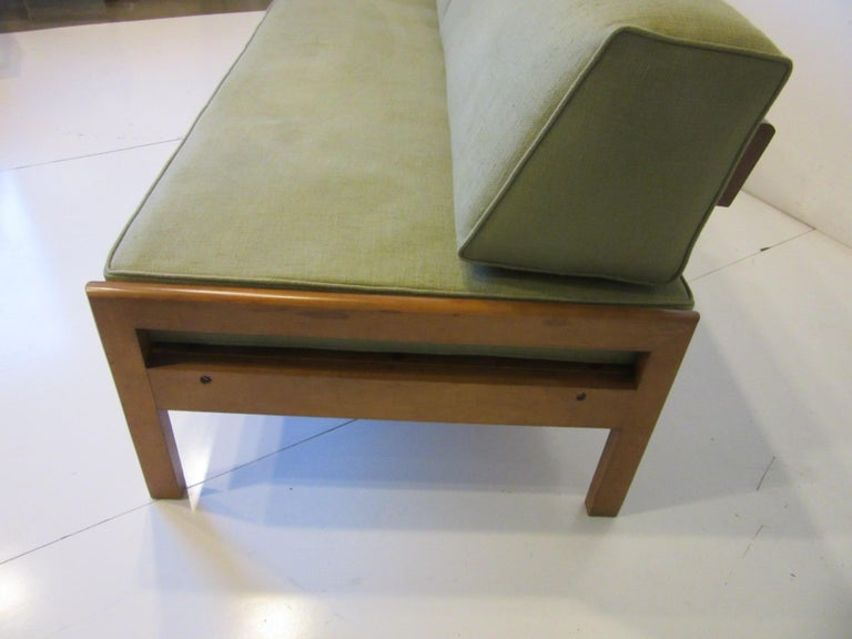 20th Century Midcentury Daybed / Sofa in the Style of Van Keppel Green For Sale