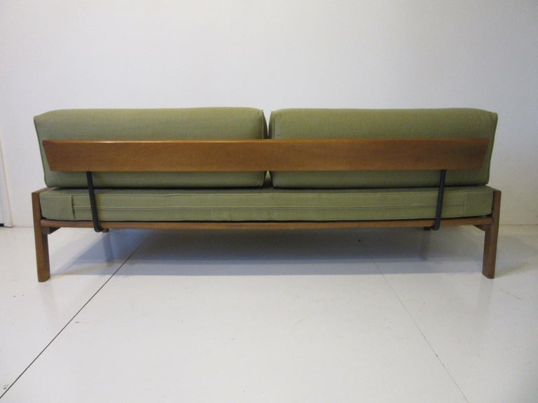 Upholstery Midcentury Daybed / Sofa in the Style of Van Keppel Green For Sale