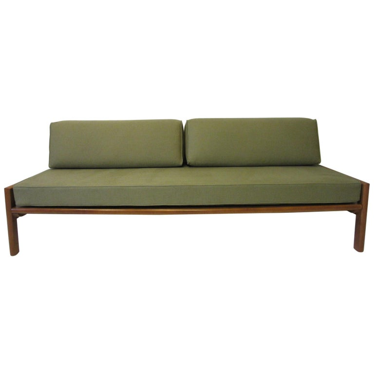 Midcentury Daybed / Sofa in the Style of Van Keppel Green For Sale