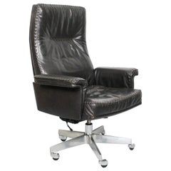 Midcentury De Sede DS 35 Executive Recliner or Swivel Office Chair, 1960s