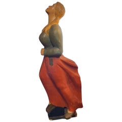 Mid Century Decorative Figurehead Carving