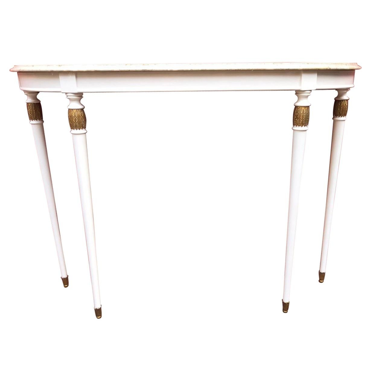 Mid-Century Demi-Lune Console Table, Italy, 1950
