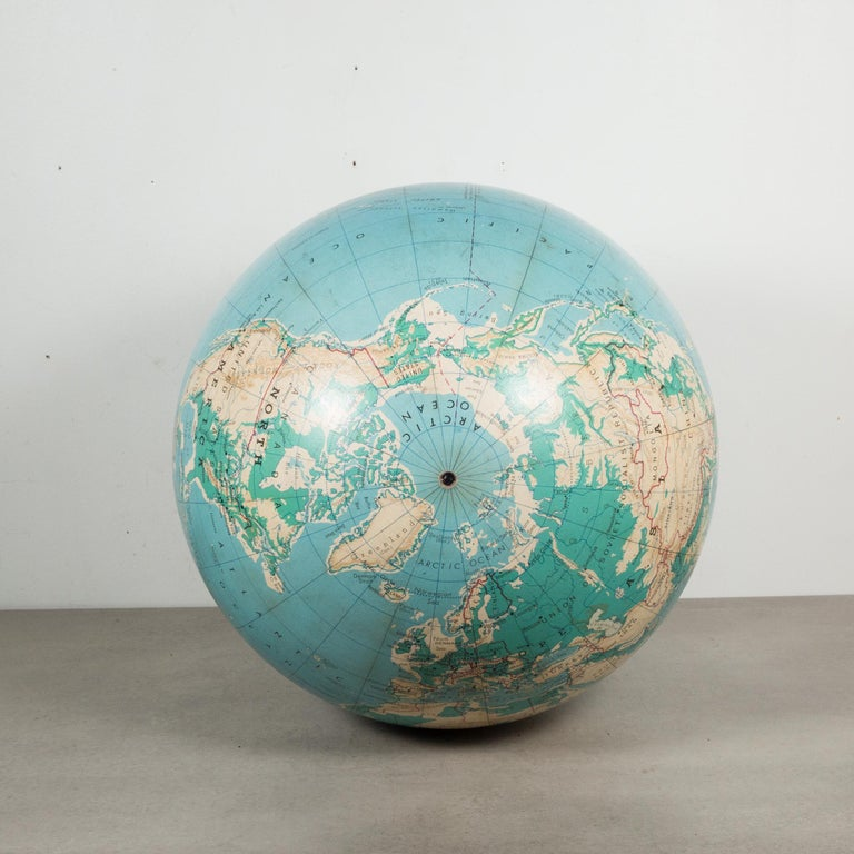 20th Century Mid-Century Denoyer-Geppert Globe on Wooden Stand by C.1960 For Sale