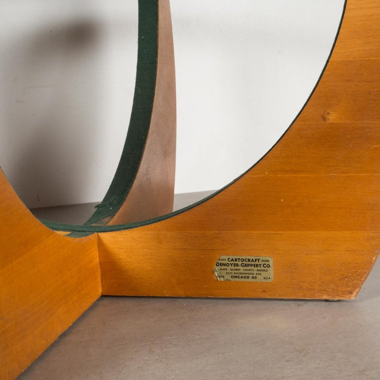 Paper Mid-Century Denoyer-Geppert Globe on Wooden Stand by C.1960 For Sale