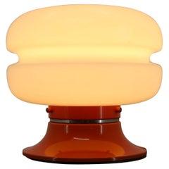 Mid Century Design Orange Table Lamp, Germany / 1970s