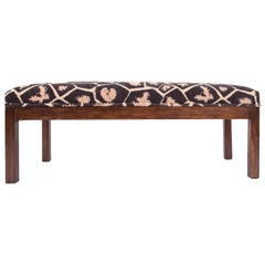 Midcentury Design Solid Wood Bench
