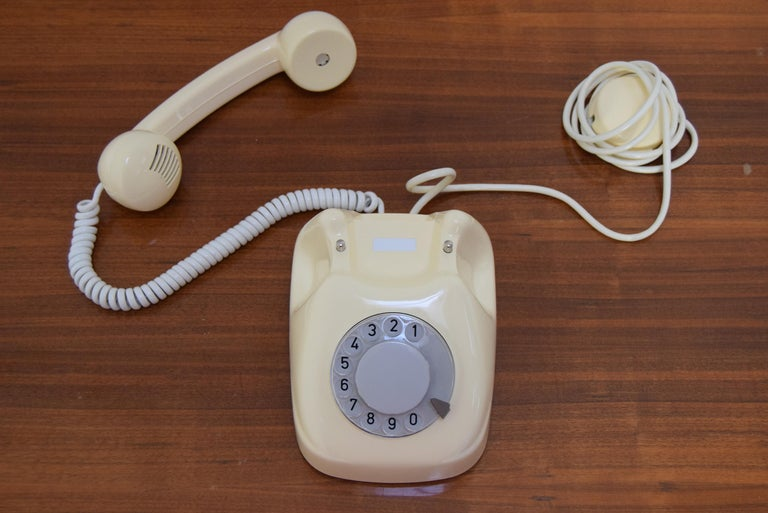 Mid-Century Modern Mid-Century Design Telephone by Tesla, 1979 For Sale
