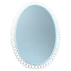 Mid Century Design Wall Mirror, Italy, 1970s