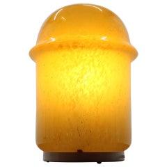 Midcentury Design Yellow Art Glass Table Lamp, 1960s