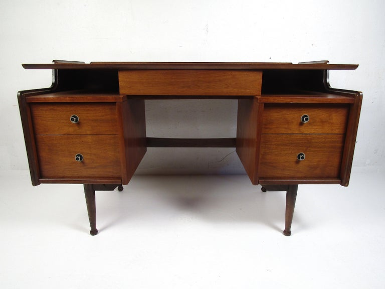 American Midcentury Desk and Chair by Hooker Furniture For Sale