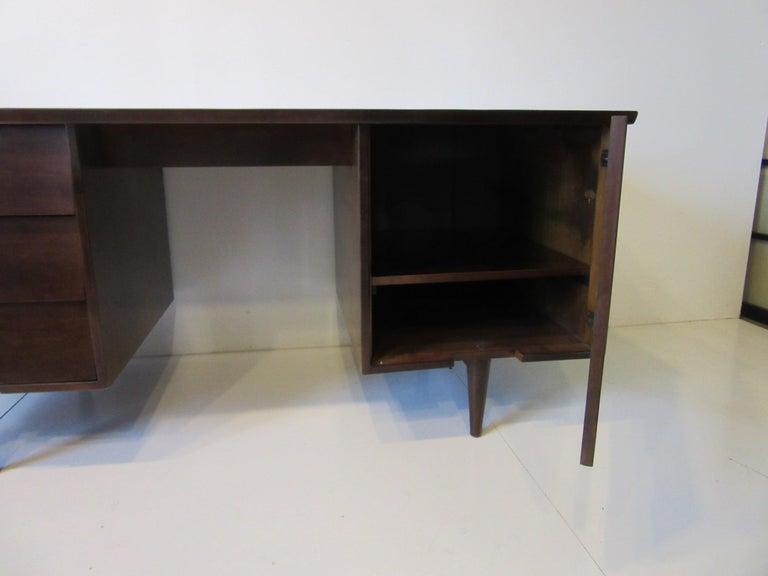 Wood Midcentury Desk by Mengel Furniture For Sale