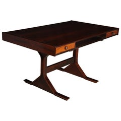 Midcentury Desk in Rosewood by Frattini for Bernini, 1957