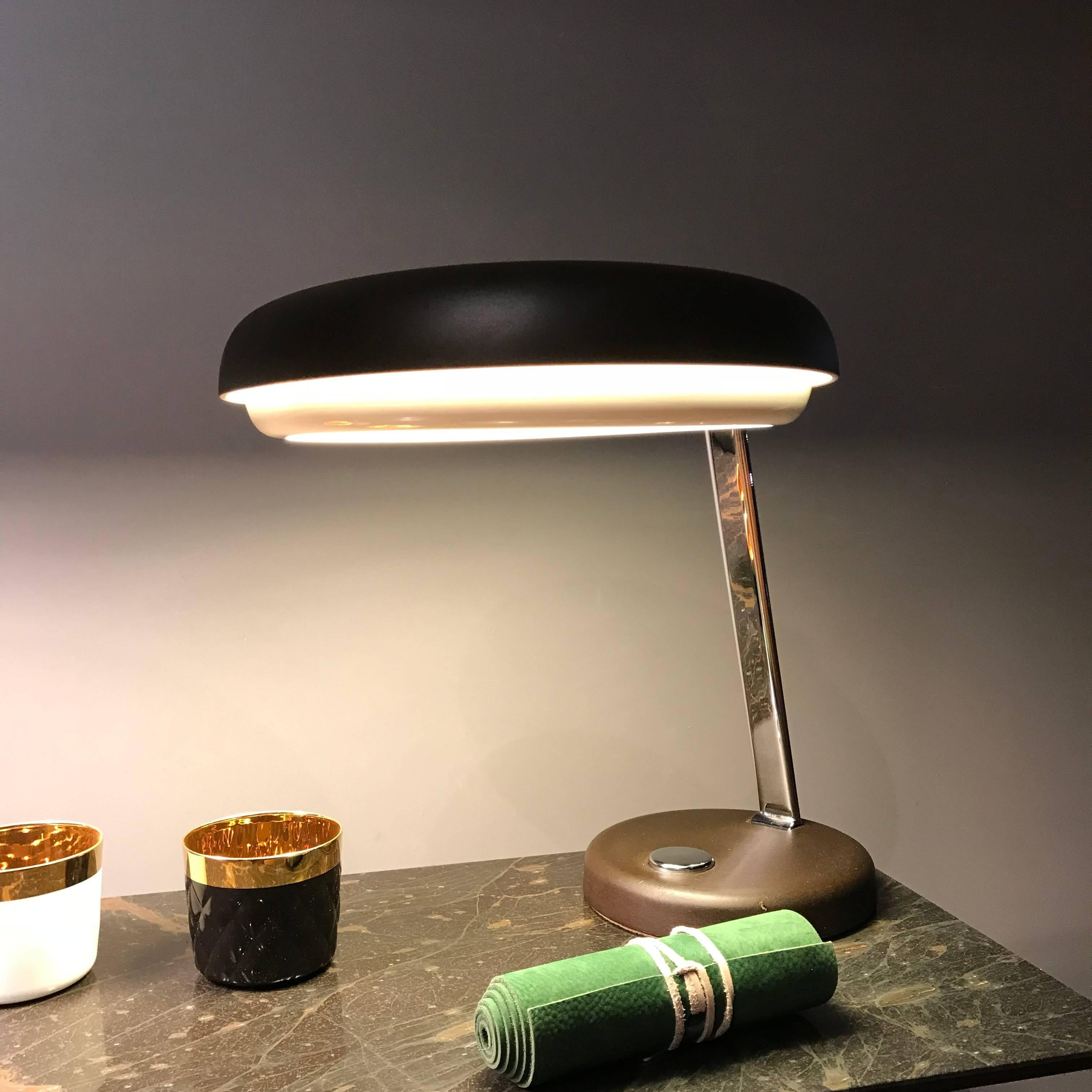 steel ashtray in lamp next desk mid century with marble and previous