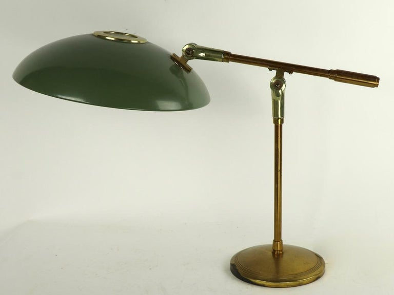 Mid Century Desk Lamp by Thurston for Lightolier In Good Condition For Sale In New York, NY