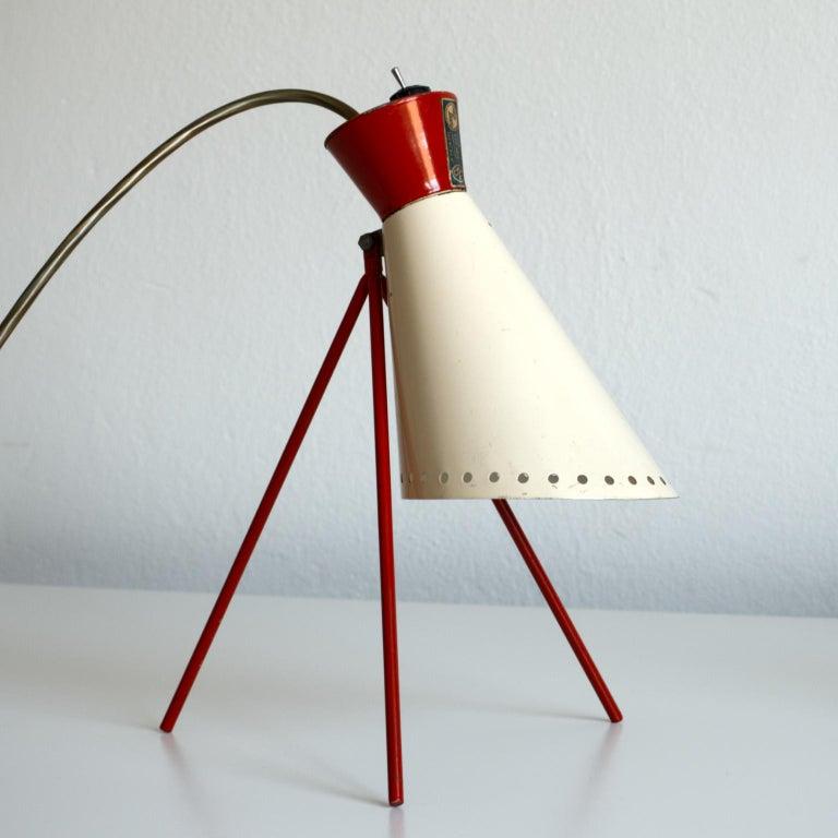 Mid Century Desk Lamp Model 1618 by Josef Hurka for Napako Czechoslovakia 1950s For Sale 5