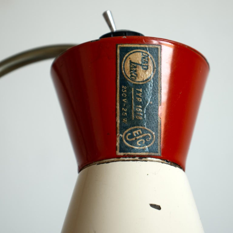 Mid Century Desk Lamp Model 1618 by Josef Hurka for Napako Czechoslovakia 1950s For Sale 6