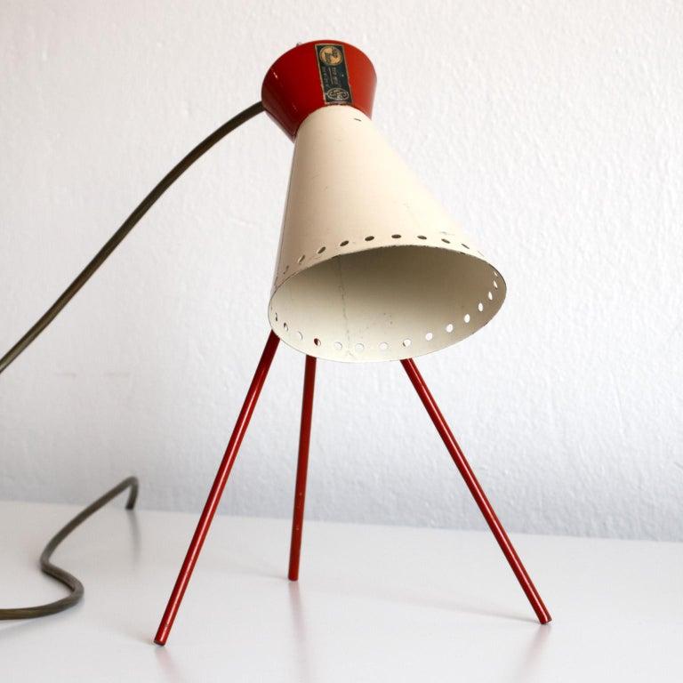 Mid-Century Modern Mid Century Desk Lamp Model 1618 by Josef Hurka for Napako Czechoslovakia 1950s For Sale