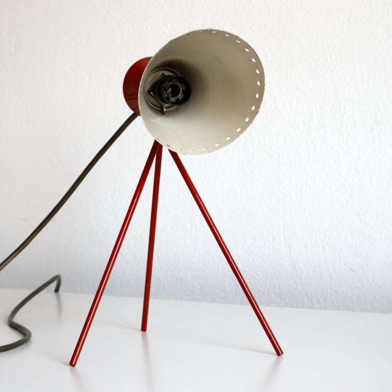 Mid Century Desk Lamp Model 1618 by Josef Hurka for Napako Czechoslovakia 1950s In Good Condition For Sale In Lucenec, SK
