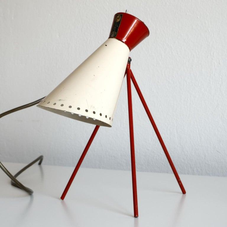 20th Century Mid Century Desk Lamp Model 1618 by Josef Hurka for Napako Czechoslovakia 1950s For Sale