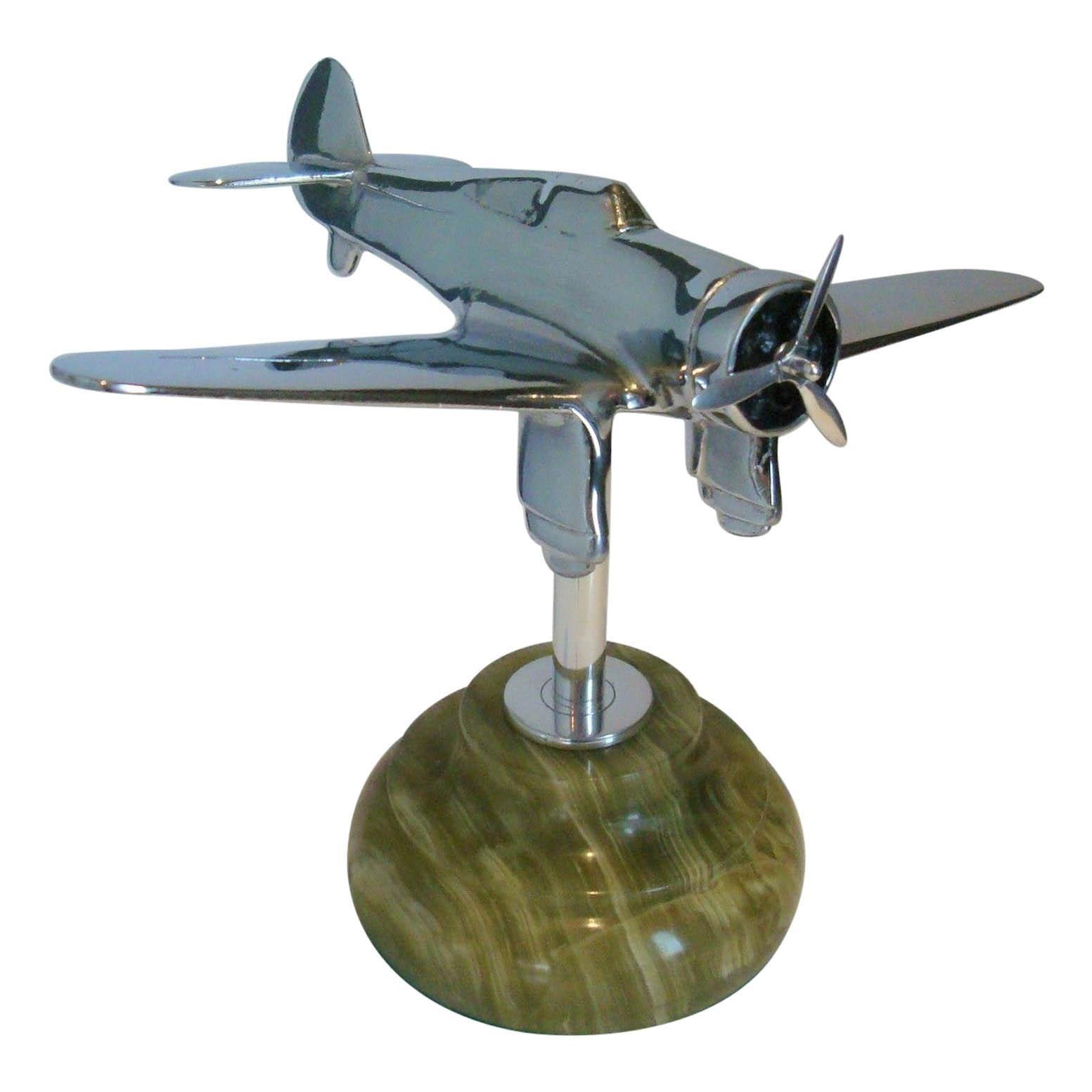 Mid-Century Desk Model Airplane, USA, 1940's