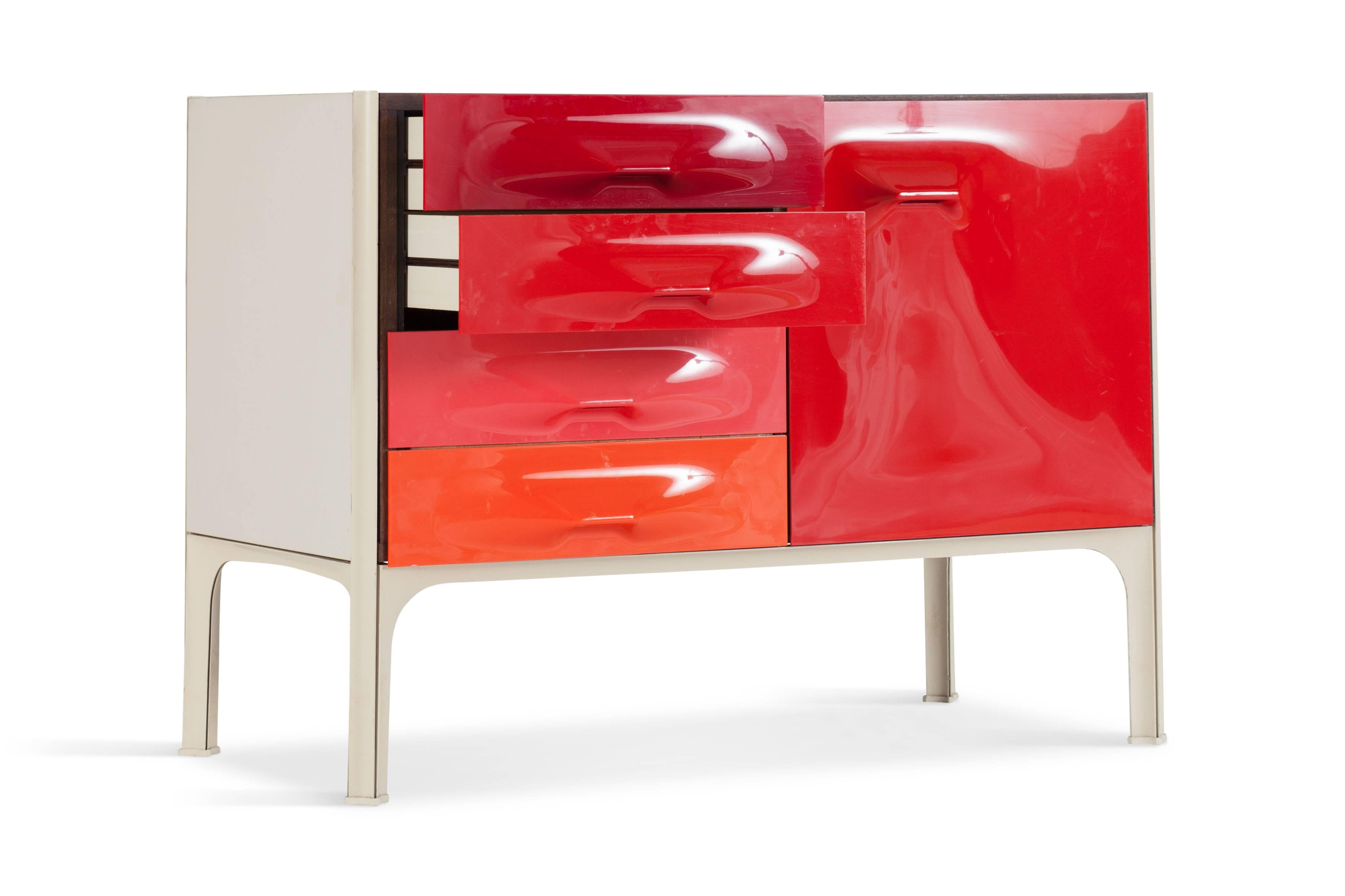 French Midcentury DF 2000 Cabinet By Raymond Loewy For Doubinsky Frères,  1970s For Sale