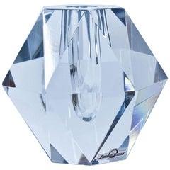 Midcentury Diamond Crystal Glass Vase by Strömbergshyttan, Sweden