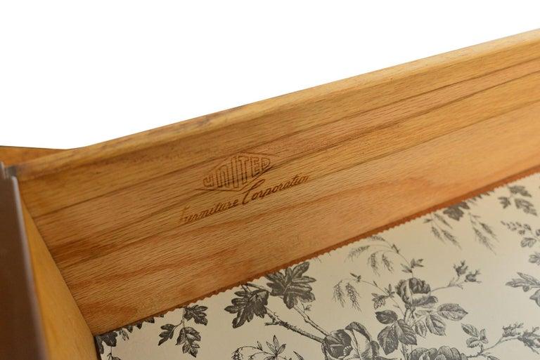Midcentury Diamond Front Walnut Nine-Drawer Dresser 1