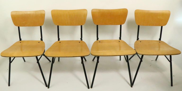 Mid-Century Modern Mid Century Dinette Card Table Set by Cavalier For Sale