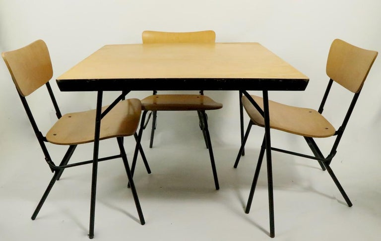 20th Century Mid Century Dinette Card Table Set by Cavalier For Sale