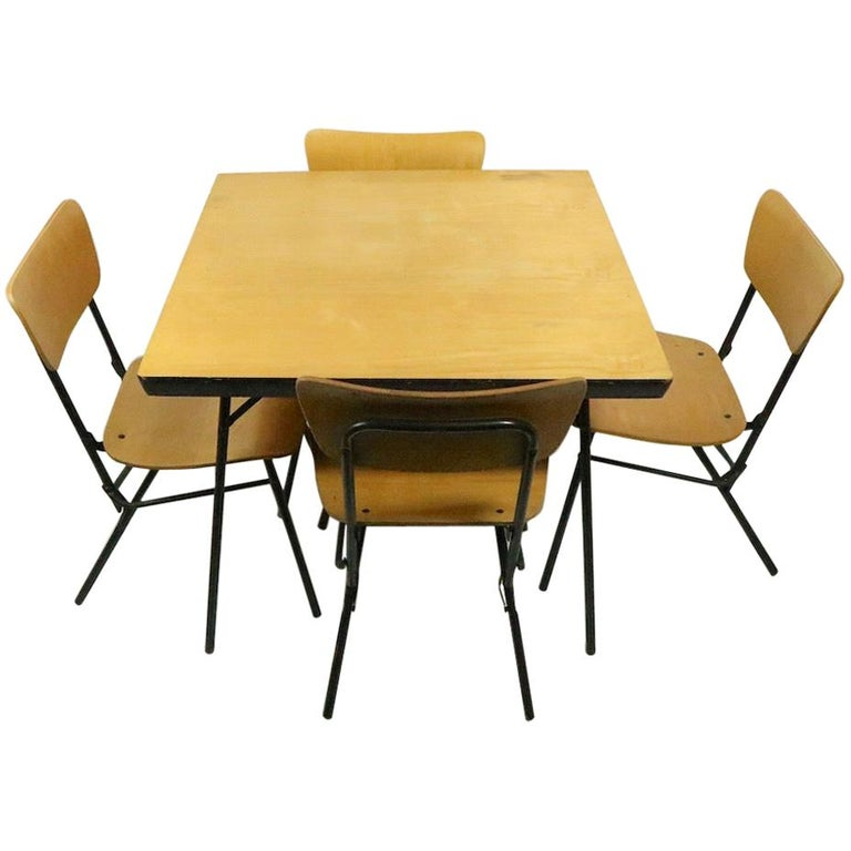 Mid Century Dinette Card Table Set by Cavalier For Sale