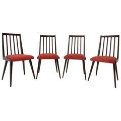 Midcentury Dining Chairs by Jiří Jiroutek for Interiér Praha, 1960s