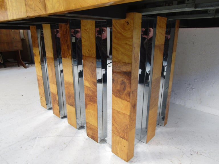 Chrome Midcentury Dining Table by Paul Evans for Directional For Sale