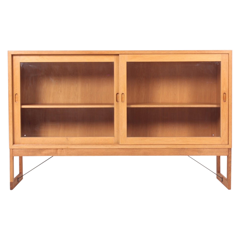 Midcentury Display Cabinet in Oak by Børge Mogensen, Swedish Modern 1960s