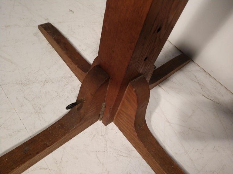 Mid Century Drafting Table with Inlay Top In Good Condition For Sale In Port Jervis, NY