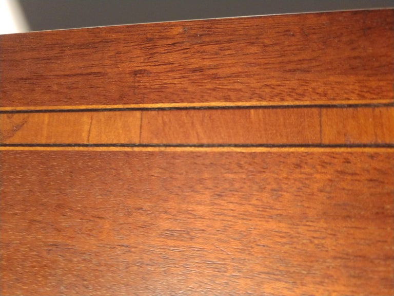 Mid Century Drafting Table with Inlay Top For Sale 1