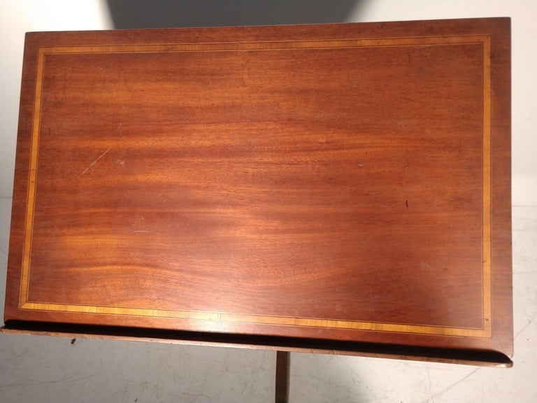 Mid Century Drafting Table with Inlay Top For Sale 2