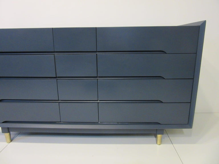 Wood Midcentury Dresser / Chest from the Beverley Hills Ensemble by T. Walczer For Sale