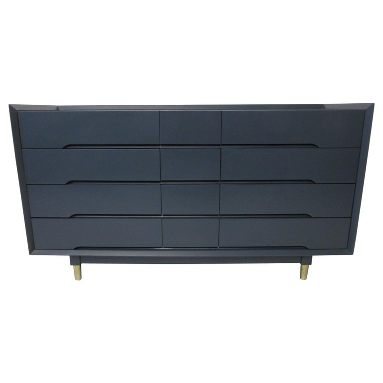 Midcentury Dresser / Chest from the Beverley Hills Ensemble by T. Walczer For Sale