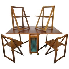 Mid-Century Drop Leaf Table and Chair Set