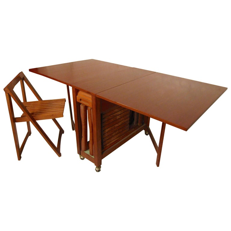 Midcentury Drop Leaf Table With Chairs For Sale At 1stdibs