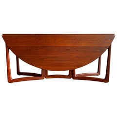 Mid-Century Drop-Leaf Teak Dining Table by Peter Hvidt and Orla Molgaard Nielsen
