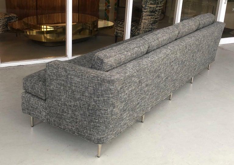 Midcentury Dunbar Style Sofa with 10 Legs For Sale 4