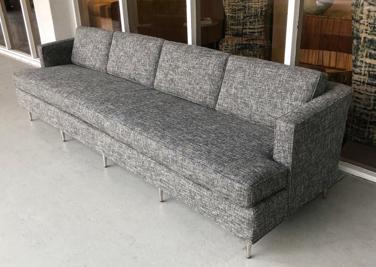 American Midcentury Dunbar Style Sofa with 10 Legs For Sale