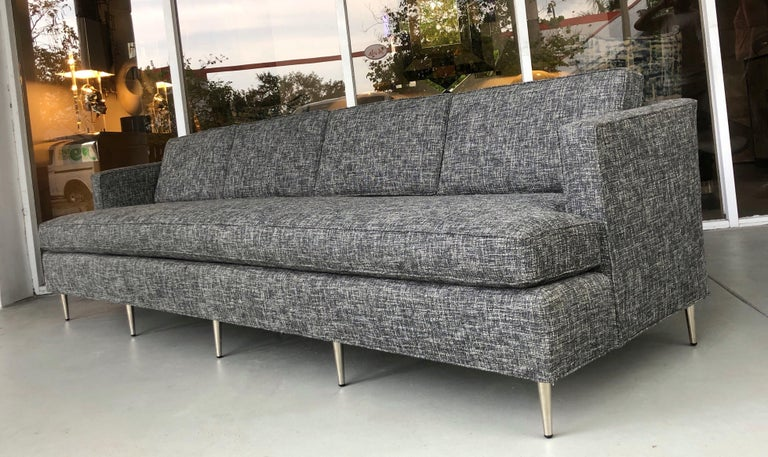 Midcentury Dunbar Style Sofa with 10 Legs In Good Condition For Sale In Miami, FL