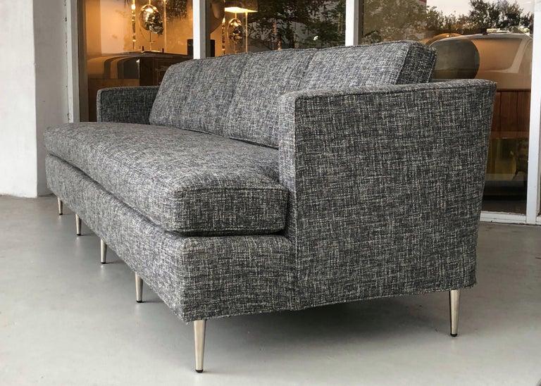 Midcentury Dunbar Style Sofa with 10 Legs For Sale 1