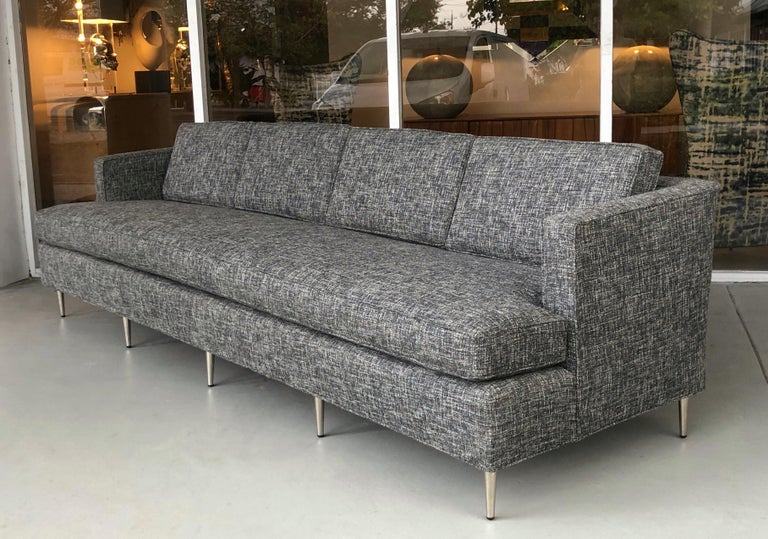 Midcentury Dunbar Style Sofa with 10 Legs For Sale 2