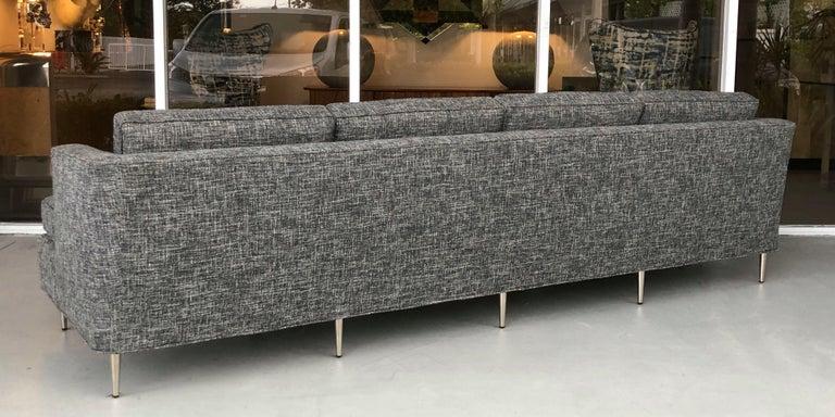 Midcentury Dunbar Style Sofa with 10 Legs For Sale 3