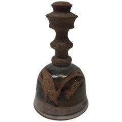 Midcentury Earthenware Painted Bell