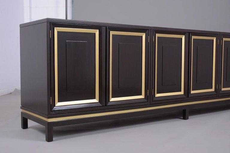 Mid-Century Modern Ebonized Credenza For Sale 8