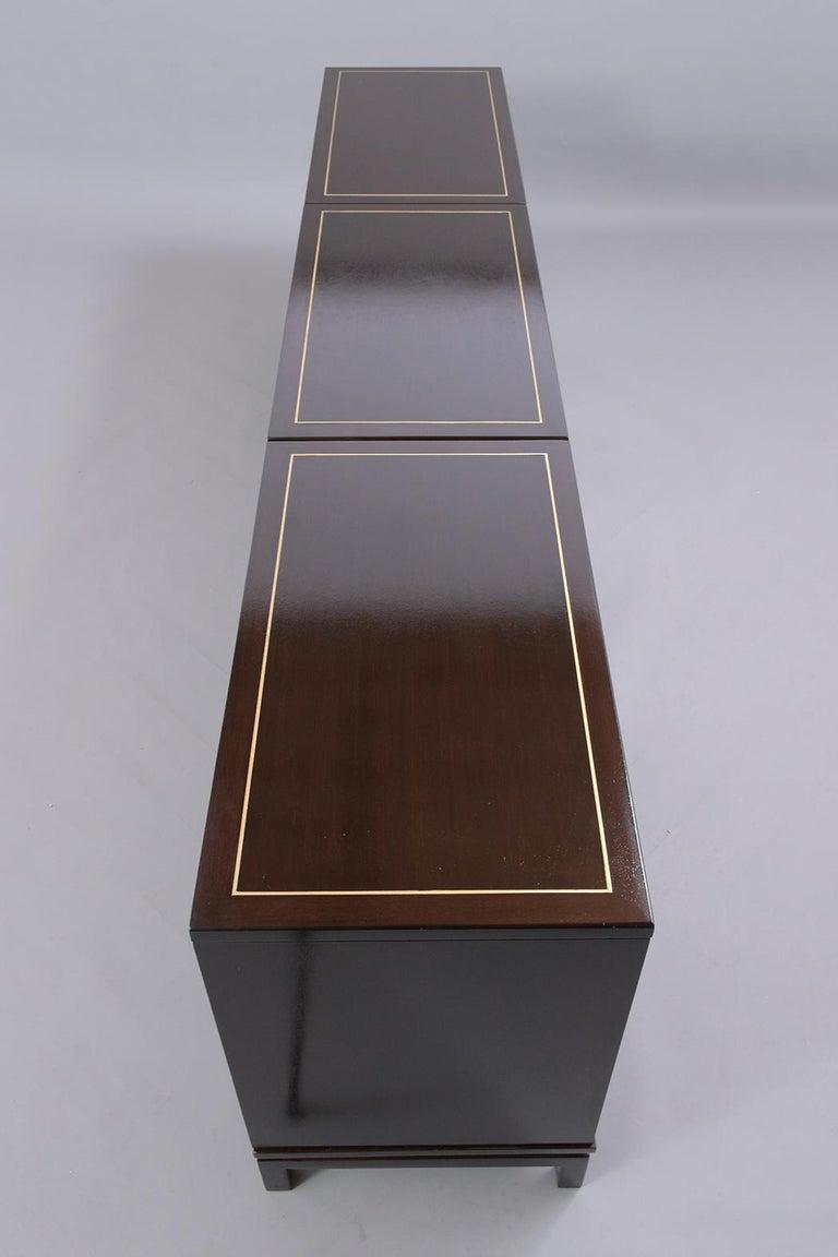 Mid-Century Modern Ebonized Credenza For Sale 9
